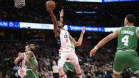 Ish Smith menjadi pahlawan Wizards saat mengalahkan Celtics pada lanjutan NBA (AP)