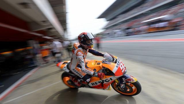 Marc Marquez pebalap MotoGP dari tim Honda berambisi cetak hattrick atau kemenangan ketiga beruntun di Sachsenring.