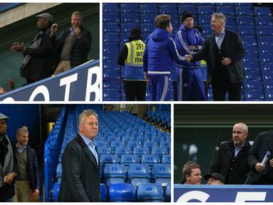 Inilah galeri foto saat Guus Hiddink hadir di Stadion Stamford Bridge, Sabtu (19/12/2015).
