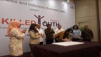 Citi Indonesia (Citi Bank) bersama Indonesia Business Links berkomitmen untuk membantu generasi muda dalam meningkatkan kemampuan diri (Foto:Merdeka.com/Dwi Aditya Putra)