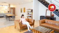Untuk menghemat ruang pada lahan yang terbatas, Anda dapat menggabungkan beberapa fungsi ruang ke dalam satu area.