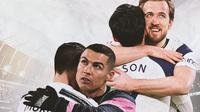 Ilustrasi - Cristiano Ronaldo-Alvaro Morata dan Harry Kane-Son Heung-min (Bala.com/Adreanus Titus)