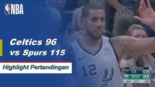 LaMarcus Aldridge skor 48 poin meraih 13 rebound untuk membantu Spurs mengalahkan Celtics 115 hingga 96.