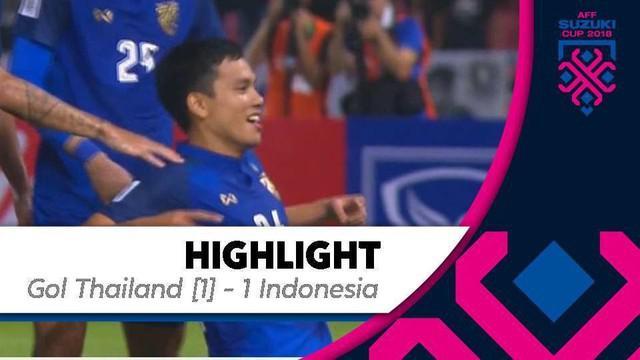 Berita video mengenai gol Korrakot Wiriyaudomsiri dari corneer kick bobol gawang timnas Indonesia pada pertandingan Piala AFF 2018, Sabtu (17/11/2018).