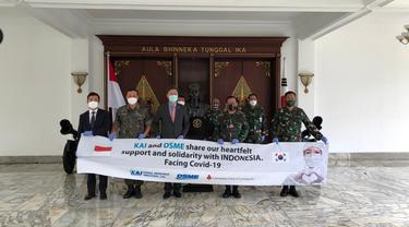 Penyerahan bantuan alat tes Virus Corona COVID-19 dari Korea
