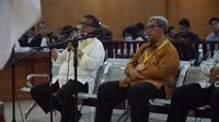 Mantan Gubernur Jawa Barat Ahamd Heryawan menjadi saksi dalam sidang kasus suap perizinan proyek Meikarta, Rabu (20/3/2019). (Huyogo Simbolon)
