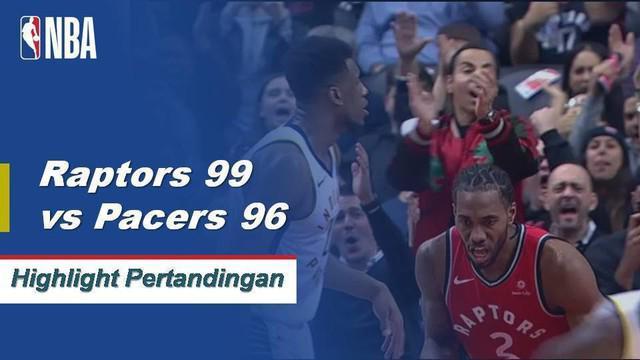 Kawhi Leonard mencetak 28 poin dengan 10 rebound dan enam assist saat Raptors datang dari 17 ke bawah untuk mengalahkan Pacers