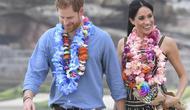 Pangeran Harry dan Meghan Markle saat menjalani tur ke Australia, Oktober 2018. (DEAN LEWINS / POOL / AFP)