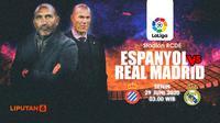 PREDIKSI ESPANYOL VS REAL MADRID (Liputan6.com/Abdillah)