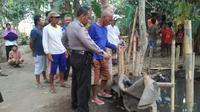 Comberan atau kubangan tempat pembuangan limbah rumah tangga yang menyebabkan balita tewas di Kebumen. (Foto: Liputan6.com/Humas Polres Kebumen/Muhamad Ridlo)