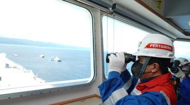 Menteri BUMN, Erick Tohir di atas kapal PERTAMINA PRIDE