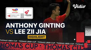 Berita video highlights pertandingan pertama Indonesia vs Malaysia di perempat final Piala Thomas 2020, di mana Anthony Ginting meraih kemenangan, Jumat (15/10/2021) malam hari WIB.