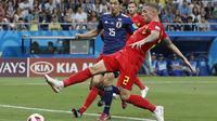 Timnas Jepang menang 3-2 atas Jepang pada babak 16 besar Piala Dunia 2018, di Stadion Rostov Arena, Rostov On-Don, Rusia, Selasa (3/7/2018) dini hari WIB. (AP/Pavel Golovkin)