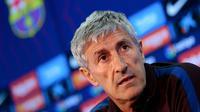Pelatih Barcelona, Quique Setien. (AFP/Pau Barrena)