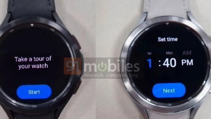 PEnampakan Galaxy Watch 4 Classic. (Doc: 91mobiles)