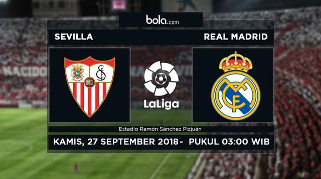 La Liga 2018-2019 Sevilla vs Real Madrid (Bola.com/Adreanus Titus)