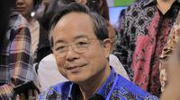 Kepala Taipei Economic and Trade Office (TETO), John C. Chen menjawab pertanyaan rekan media pada acara Travel Fair 2019 di Jakarta Convention Center Jumat (20/9/2019) (Liputan6.com/Hugo Dimas)