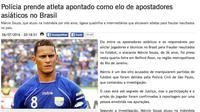 Berita soal penangkapan mantan striker Persib dan Arema, Marcio Souza di Brasil. (Istimewa)