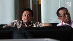 Presiden Komisaris PT Mugi Rekso Abadi, Soetikno Soedarjo menunggu untuk pemeriksaan di Gedung KPK, Rabu (31/7/2019). Penyuap mantan Dirut PT Garuda Indonesia Emirsyah Satar ini diperiksa sebagai tersangka kasus dugaan suap pengadaan mesin dan pesawat di PT Garuda Indonesia (merdeka.com/Dwi Narwoko)