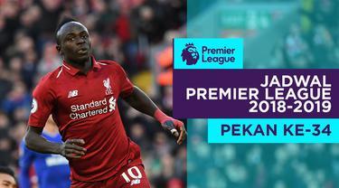 Berita video jadwal Premier League 2018-2019 pekan ke-34. Big match antara Liverpool vs Chelsea, Minggu (14/4/2019) di Anfield, Liverpool.