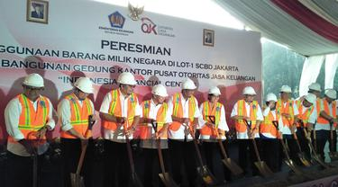Kemenkeu dan OJK menyepakati penggunaan barang milik negara di lokasi Lot-1 kawasan Sudirman Central Business District (SCBD) Jakarta untuk pembangunan gedung Indonesia Financial Center. Liputan6.com/Septian Deny