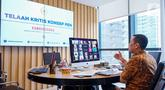 Anggota DPR RI komisi XI Kamrussamad saat diskusi virtual bersama sejumlah media pada acara Silatrahmi Lebaran di Jakarta, Jumat (29/5/2020). Kamrussamad meminta pemerintah mempertimbangkanpenerapan era kenormalan baru karena masih tingginya kasus Covid-19. (Liputan6.com/HO/Bon)