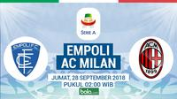 Serie A 2018-2019 Empoli Vs AC Milan (Bola.com/Adreanus Titus)