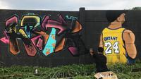 Grafiti Kobe Bryant di Bojong Gede, Kabupaten Bogor. (Socent).