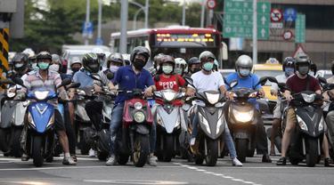 FOTO: Kasus COVID-19 di Taiwan Naik ke Level Tiga