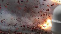ilustrasi ledakan bom. (iStockphoto)