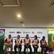 BNI dan Kiostix menjalin kerja sama untuk penjualan tiket Asian Games 2018. (Liputan6.com/Ahmad Fawwaz Usman)