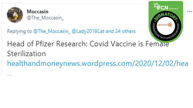 Klaim vaksin bikin wanita mandul. (Twitter)