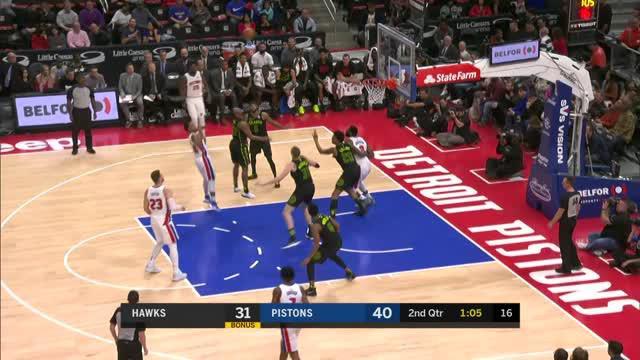 Berita video game recap NBA 2017-2018 antara Detroit Pistons melawan Atalanta Hawks dengan skor 104-98.