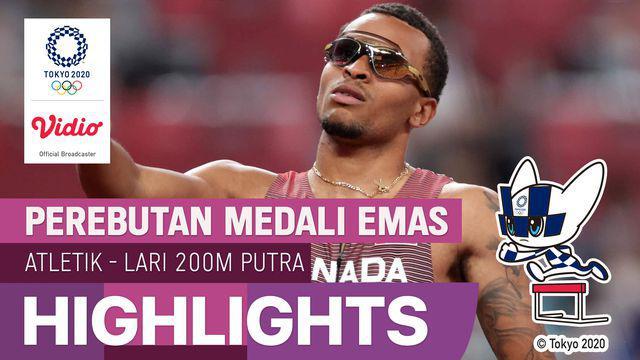 Berita Video, Andre de Grasse Berhasil Meraih Emas di Cabang Olahraga  Lari 200m Olimpiade Tokyo 2020