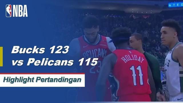 Giannis turun 25 poin, meraih 8 papan dan mencetak 8 assist untuk kemenangan melawan Pelikan 123-115