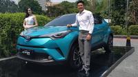 Tooyota C-HR Hybrid resmi dijual di Indonesia bertepatan dengan Hari Bumi. (Arief A/Liputan6.com)