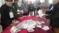Jokowi-Ma'ruf menang telak dalam PSU di TPS 05 Desa Tangkisan, Mrebet, Purbalingga. (Foto: Liputan6.com/KPU PBG/Muhamad Ridlo)