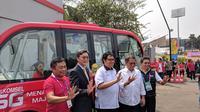Telkomsel Uji Coba 5G Lewat Bus Otonomos sepanjang Asian Games 2018 di Gelora Bung Karno, Jakarta. Liputan6.com/Jeko I.R