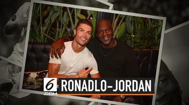 Cristiano Ronaldo dan Michael Jordan mengabadikan momen kebersamaan. Ronaldo menulis caption 'Kami Membuat Sejarah' dala, unggahannya.
