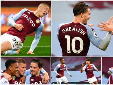Kebahagiaan Pemain Aston Villa Usai Menyarangkan 7 Gol ke Gawang Liverpool