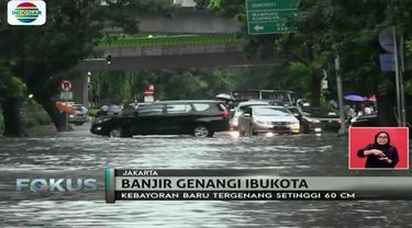 Jalan penghubung Blok M dan Trunojoyo ini diduga baru pertama kalinya tergenang setelah diguyur hujan lebat lebih dari satu jam sore tadi.
