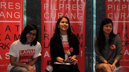 Selain Nia Dinata, gerakan ini diprakarsai Nadia Nasoetion, Imbi Pulungan dan Nadia Hastarini, Senin (7/7/2014)(Liputan6.com/Faisal R Syam)