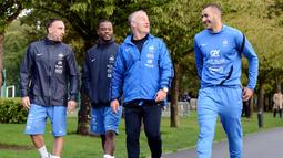 Ini menjadi kali pertama penyerang 33 tahun tersebut kembali mendapat panggilan sejak terakhir membela tim Les Bleus pada 2015 silam, sebelum kemudian terbelit skandal pemerasan. (AFP/Franck Fife)