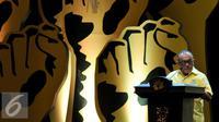 Ketua Umum Partai Golkar Aburizal Bakrie saat memberikan pidato terakhirnya di Musyawarah Nasional Luar Biasa (Munaslub) di Nusa Dua, Bali (16/5). Ical menyatakan kesanggupannya untuk menjadi Ketua Dewan Pembina Partai Golkar. (Liputan6.com/Johan Tallo)