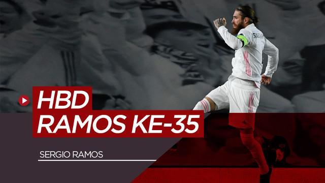 berita video ucapan ulang tahun timnas Spanyol untuk Sergio Ramos, Rabu (31/3/21)