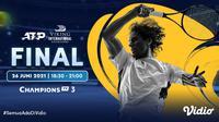Link Live Streaming pertandingan ATP 500 Viking International Eastbourne eksklusif melalui Vidio. 9Sumber : dok. vidio.com)