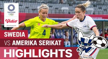 Berita video highlights sepak bola putri Olimpiade Tokyo 2020, Swedia menang 3-0  atas Amerika Serikat, Rabu (21/7/21)