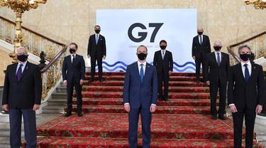 Para Menlu negara kelompok G7 di London, Inggris (AP)