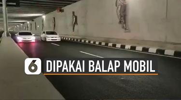 Sebuah video balapan mobil di underpass Bandara Internasional Yogyakarta (YIA) Kulon Progo viral di media sosial.