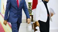 Menlu Retno Marsudi mendampingi Presiden Jokowi untuk hadir dalam World Economic Forum (WEF) 2020 secara virtual dari   Istana Kepresidenan Bogor, Jawa Barat, Rabu, 25 November 2020. (Dok: Muchlis Jr - Biro Pers Sekretariat Presiden)